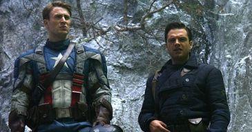 Captain America the First Avenger Chris Evans as Captain America and Sebastian Stan as Bucky Barnes