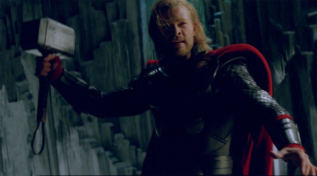"Photo credit: Courtesy of Paramount Pictures / Marvel Studios Thor (Chris Hemsworth) in ""THOR,"" from Paramount Pictures and Marvel Entertainment."