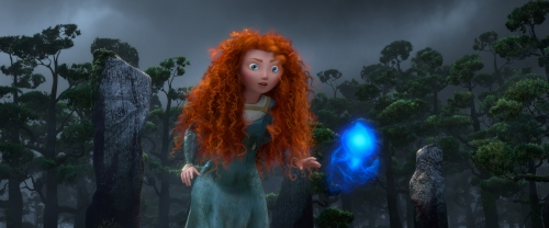 Courtesy Walt Disney Pictures/Pixar AnimationMerida follows a Wisp.