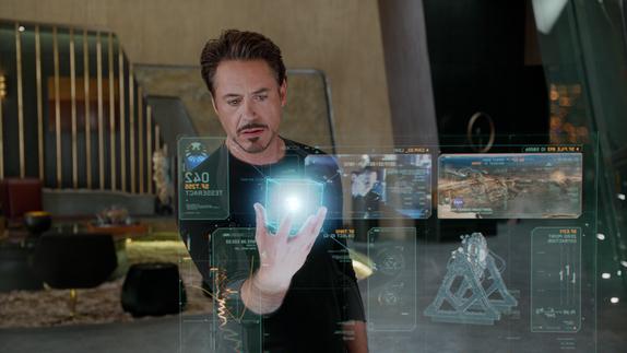 tony stark office. Courtesy Walt Disney Pictures Tony Stark (Robert Downey Jr.) Plans Strategy In \ Office
