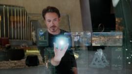 "Courtesy Walt Disney Pictures Tony Stark (Robert Downey Jr.) plans strategy in ""Marvel's The Avengers."""