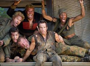 Tropic Thunder cast - Robert Downey Jr., Ben Stiller, Jack Black, Jay Barachuel