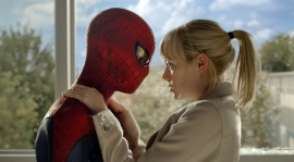 Photo By: Jaimie Trueblood/Columbia Pictures Industries, Inc.Andrew Garfield as Spider-Man and Emma Stone as Gwen Stacy.