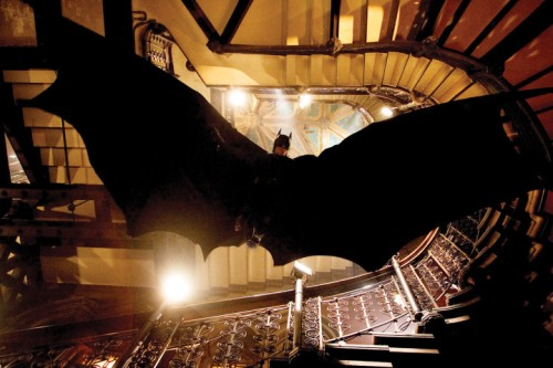 Batman Begins Batman gliding