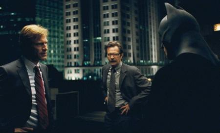 The Dark Knight Harvey Dent Aaron Eckhart, Gary Oldman Commissioner Gordon and Batman Christian Bale
