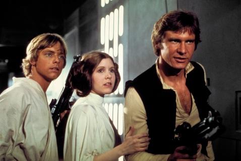 Luke, Leia, and Han