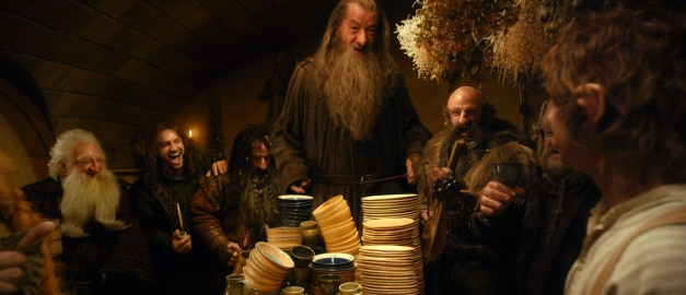 "Warner Bros. Pictures(L-r) KEN STOTT as Balin, AIDAN TURNER as Kili, WILLIAM KIRCHER as Bifur, IAN McKELLEN as Gandalf, GRAHAM McTAVISH as Dwalin, MARK HADLOW as Dori and MARTIN FREEMAN as Bilbo Baggins and in New Line Cinema's and MGM's fantasy adventure ""THE HOBBIT: AN UNEXPECTED JOURNEY,"" a Warner Bros. Pictures release."