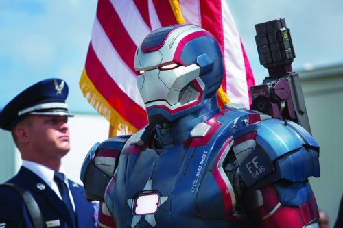 "Zade Rosenthal/MarvelIron Patriot in ""Iron Man 3."""