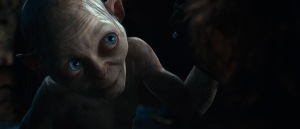 Warner Bros. PicturesGollum (Andy Serkis) tries to win his game against Bilbo.