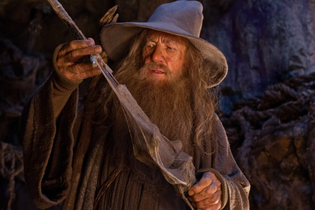 "Todd Eyre/Warner Bros. Pictures Ian McKellen as the Wizard Gandalf the Grey in the fantasy adventure ""THE HOBBIT: AN UNEXPECTED JOURNEY."""