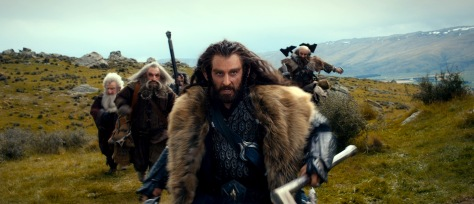 Warner Bros. PicturesDwarves Balin (Ken Stott), Oin (John Callen), Bifur (William Kircher), Thorin (Richard Armitage) and Dwalin (Graham McTavish) on the run.