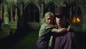 Valjean Hugh Jackman and Cosette in Les Miserables