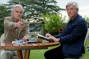Kerry Brown/The Weinstein CompanyWilf (Billy Connolly) and Reggie (Tom Courtenay) sit back.