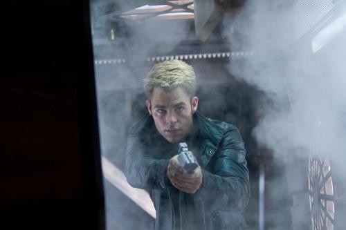 Chris Pine as Captain Kirk in Star Trek Into Darkness