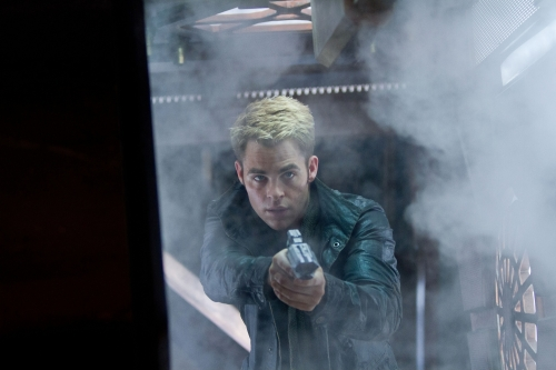 Chris Pine as Captain Kirk in Star Trek Into Darkness