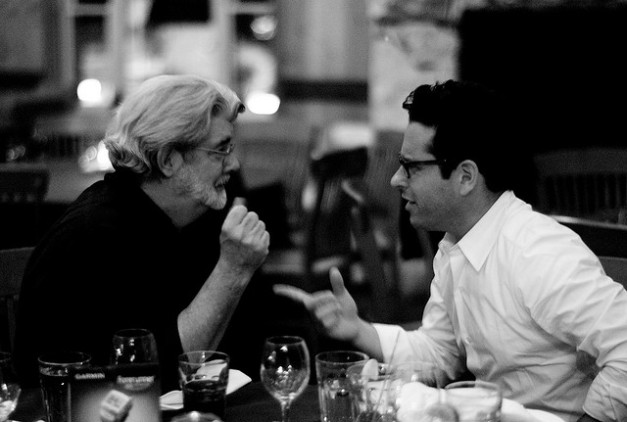 "When geniuses collaborate. What will George Lucas and J.J. Abrams have in store for ""Star Wars: Episode VII?"""