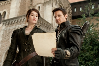 """David Appleby/Paramount Pictures Gretel (Gemma Arterton) and Hansel (Jeremy Renner) learn their next target in """"Hansel and Gretel Witch Hunters."""""""
