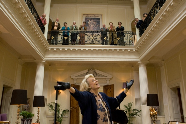 Kerry Brown/The Weinstein CompanyJean (Maggie Smith) revels in her applause.