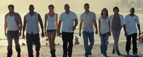 Matt Schultz, Tyrese, Gal Galdot, Vin Diesel, Paul Walker, Jordanna Brewster, Sung Kang and Ludacris in Fast 5