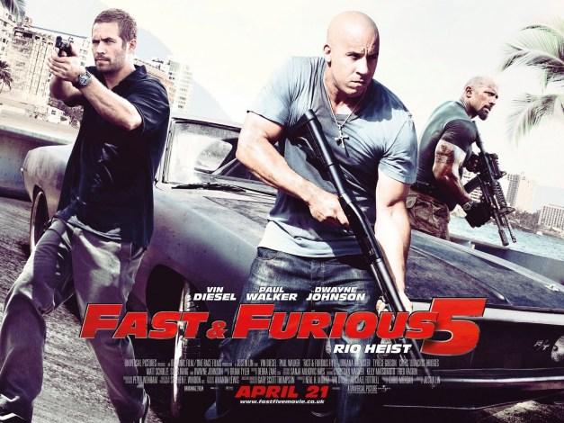 Paul Walker, Vin Diesel and The Rock in Fast 5