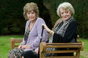 Kerry Brown/The Weinstein CompanyCissy (Pauline Collins) and Jean (Maggie Smith) catch up.