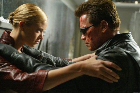 Terminator 3 - Kristina Loken and Arnold Schwarzenegger in T3