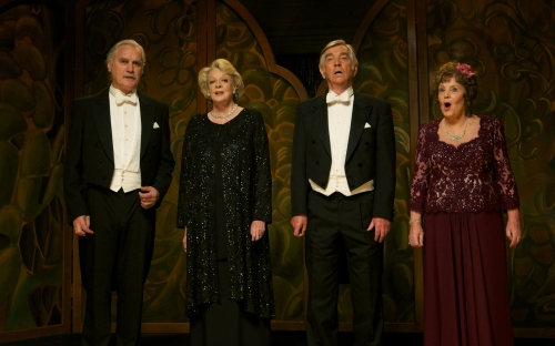 "Kerry Brown/The Weinstein Company Billy Connolly, Maggie Smith, Tom Courtenay and Pauline Collins star in ""Quartet."""