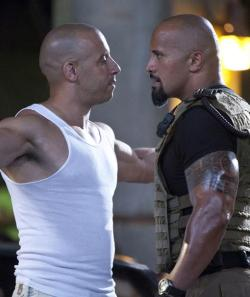 Vin Diesel and The Rock in Fast 5