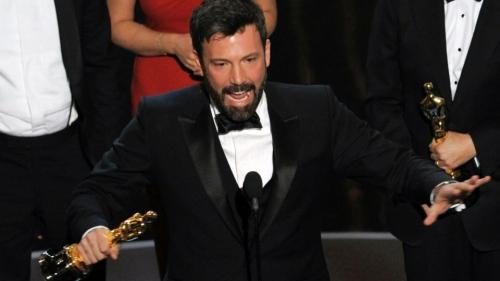 Ben Affleck celebrates Argo winning 2013 Best Picture Oscar