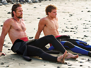 Chasing Mavericks Gerard Butler and Johnny Weston