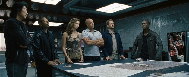 "Universal Pictures Han (SUNG KANG), Tej (CHRIS ""LUDACRIS"" BRIDGES), Gisele (GAL GADOT), Dom (VIN DIESEL), Brian (PAUL WALKER) and Roman (TYRESE GIBSON) reunite for ""Fast & Furious 6"", the next installment of the global blockbuster franchise built on speed."