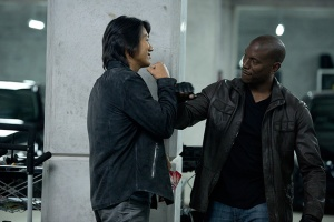 Fast and Furious 6 Sung Kang as Han and Tyrese as Roman