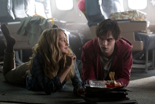 "Jan Thijs/Summit Entertainment Teresa Palmer and Nicholas Hoult star in ""Warm Bodies."""
