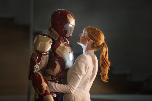 "Zade Rosenthal/MarvelIron Man (Robert Downey Jr.) and Pepper Potts (Gwyneth Paltrow) in ""Iron Man 3."""