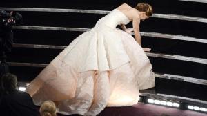 Jennifer Lawrence falls at the 2013 Oscars
