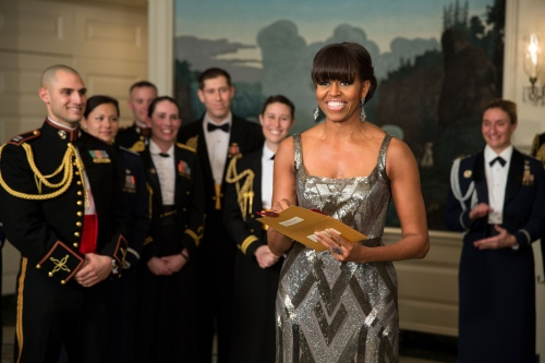 Michelle Obama FLOTUS announcing 2013 Oscar for Best Picture