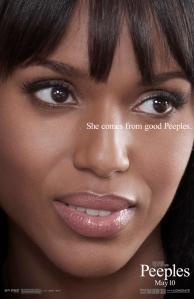 Scandal's Kerry Washington Peeples teaser poster