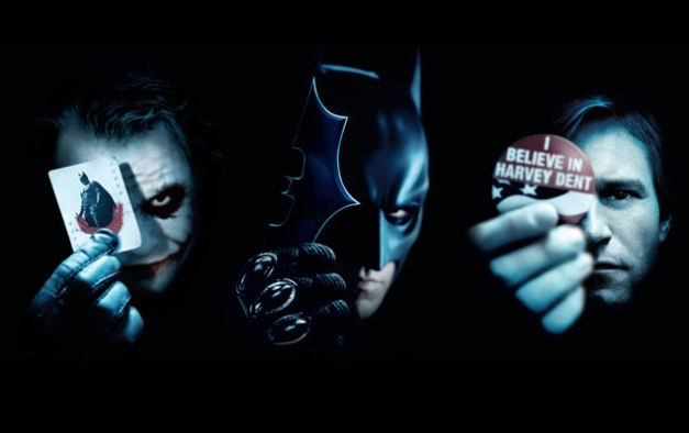 The Dark Knight character posters The Joker, Batman and Harvey Dent