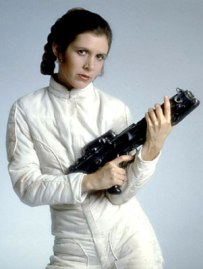 Carrie Fisher as Princess Leia in Star Wars The Empire Strikes Back
