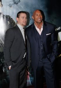 Gareth Cattermole/Getty ImagesChanning Tatum and Dwayne Johnson