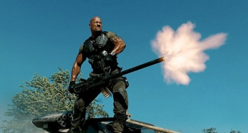 Dwayne The Rock Johnson as Roadblock in G.I. Joe Retaliation