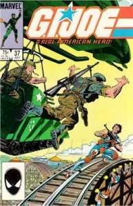 GI Joe comic issue 37 Flint vs Crimson Twins