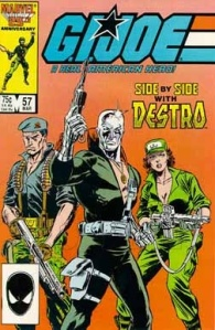 GI Joe comic issue 57 Flint, Destro and Lady Jaye