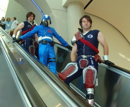 GI Joe costumes Cobra Commander, Tomax and Xamot