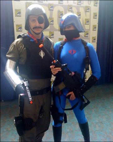 GI Joe costumes Major Bludd and female Cobra trooper