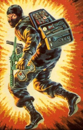 GI Joe Firefly action figure card art