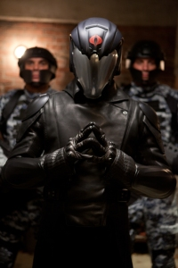 Jamie Trueblood/Paramount PicturesCobra Commander (Luke Bracey) with his Cobra troops.