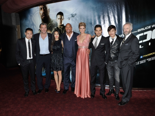 """Gareth Cattermole/Getty ImagesThe cast of """"G.I. Joe: Retaliation"""" at Empire Leicester Square in London."""