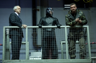 Jamie Trueblood/Paramount PicturesZartan (Jonathan Pryce), Cobra Commander (Luke Bracey) and Firefly (Ray Stevenson) devise strategies.