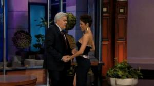 Halle Berry says eyes up here Jay Leno